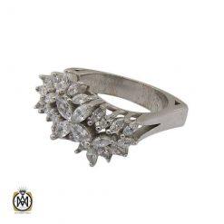 انگشتر نقره سولیتر زنانه طرح شهرزاد
