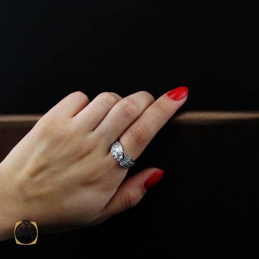 انگشتر نقره سولیتر زنانه طرح گلاله – کد ۲۴۳۴