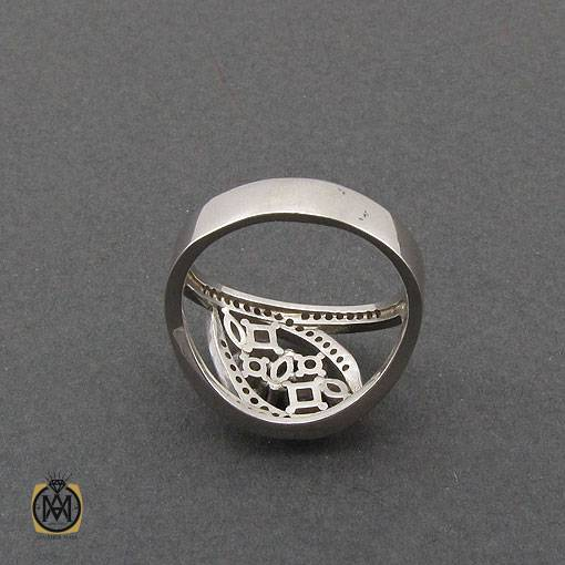 انگشتر نقره سولیتر زنانه طرح لیندا - کد 2427 - جواهرات نقره زنانه 1 8
