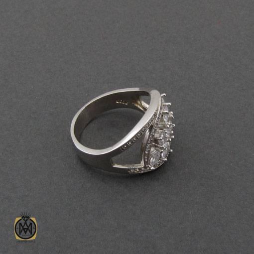 انگشتر نقره سولیتر زنانه طرح لیندا - کد 2427 - جواهرات نقره زنانه 2 8