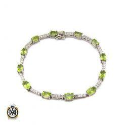 دستبند زبرجد زنانه طرح فلورا