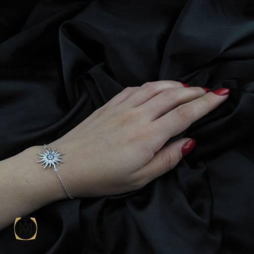 دستبند نقره زنانه طرح آروشا