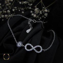دستبند نقره زنانه طرح بی نهایت