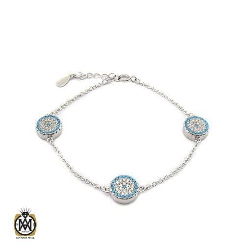 دستبند نقره زنانه طرح تبسم