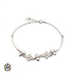 دستبند نقره طرح تبسم زنانه – کد ۱۰۷۰
