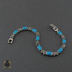 دستبند نقره زنانه طرح فیروزه