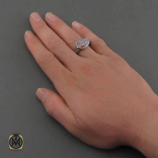 انگشتر در نجف مردانه حکاکی یا حسین – کد ۱۱۱۸۶