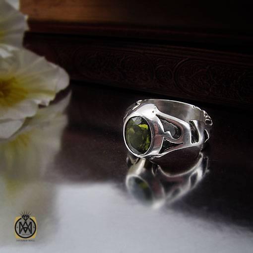 انگشتر زبرجد مردانه مرغوب و خوش رنگ