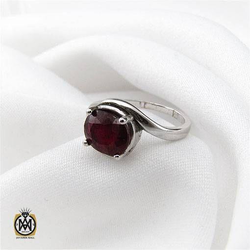 انگشتر یاقوت سرخ زنانه خوش رنگ و معدنی طرح بهناز – کد ۲۴۳۷