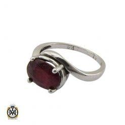 انگشتر یاقوت سرخ زنانه خوش رنگ و معدنی