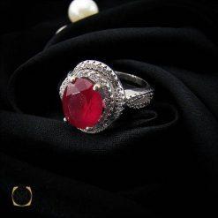 انگشتر یاقوت سرخ زنانه مرغوب