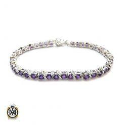 دستبند آمتیست زنانه اصل و معدنی طرح ویدا - کد 1210 - دستبند آمتیست زنانه 247x247
