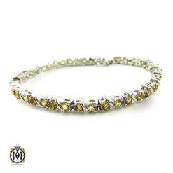 دستبند سیترین طرح روناک زنانه -کد 1095 - سیترین 247x247