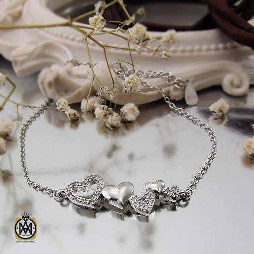 دستبند نقره زنانه طرح دلکش