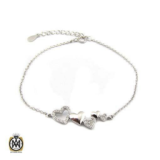 دستبند نقره زنانه طرح دلکش (3)