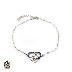 دستبند نقره زنانه طرح قلب