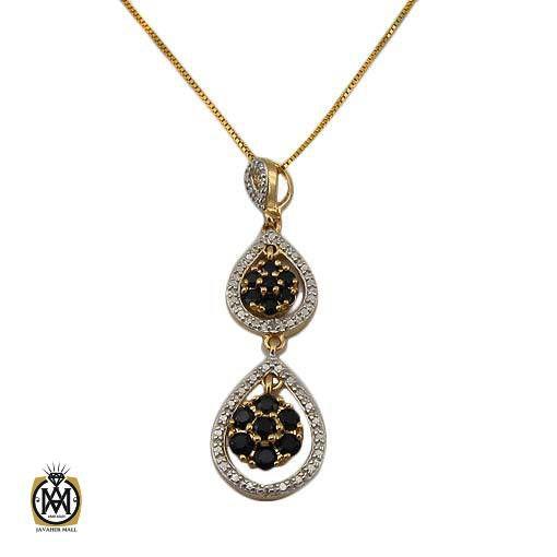 مدال جواهر نشان الماس طبیعی و یاقوت کبود اصل