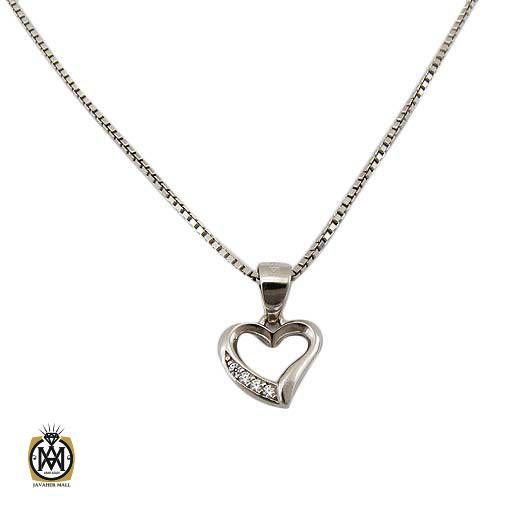گردنبند نقره دخترانه طرح قلب