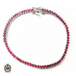 دستبند یاقوت سرخ زنانه ظریف