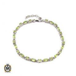دستبند زبرجد زنانه اصل و خوش رنگ طرح هانا