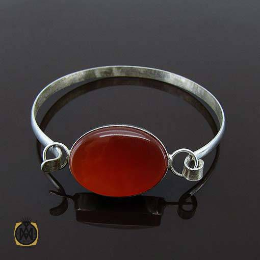 دستبند عقیق قرمز خوش رنگ دست ساز اسپرت