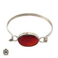 دستبند عقیق قرمز خوش رنگ و مرغوب دست ساز اسپرت