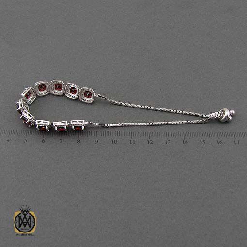 دستبند نقره جدید و جواهر با قفل آسانسوری
