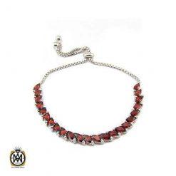 دستبند گارنت زنانه خوش رنگ طرح نیلیا - کد 1214 - دستبند گارنت زنانه خوش رنگ طرح سولماز 3 247x247