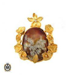 مدال عقیق خزه ای اصل معدنی طرح ملیسا