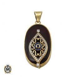مدال عقیق خوش نقش و درشت طرح گیتی
