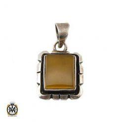 مدال عقیق زرد مرغوب اسپرت
