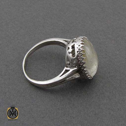 انگشتر دخترانه اصل با سنگ قیمتی معدنی