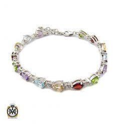 دستبند چند نگین زنانه اصل و معدنی طرح آندیا