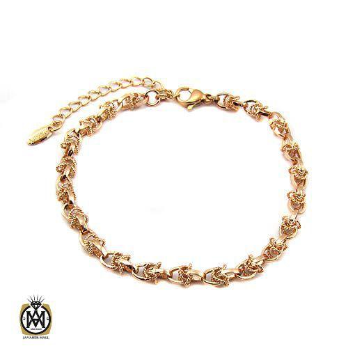 دستبند ژوپینگ زنانه استیل طرح گلامور