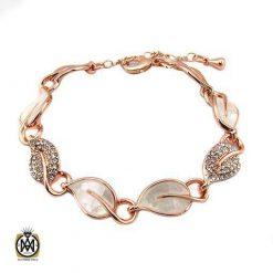 دستبند Abella زنانه استیل طرح برگ