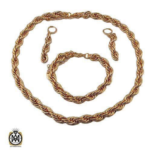 سرویس طنابی زنانه استیل برند zj طرح آراشید