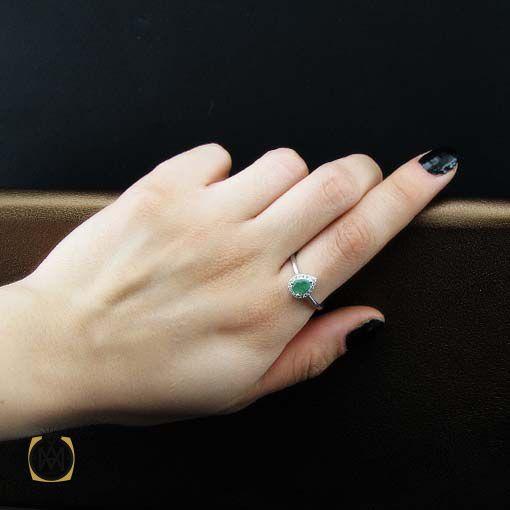 انگشتر زمرد زنانه اصل و طبیعی طرح سورینا (2)