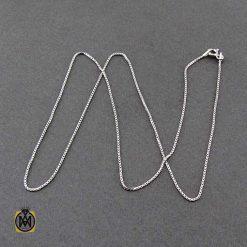 زنجیر زنانه نقره ایتالیایی ونیزی 45 سانتی متری
