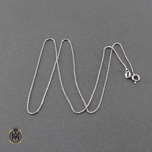 زنجیر نقره زنانه ایتالیایی ونیزی 45 سانتی