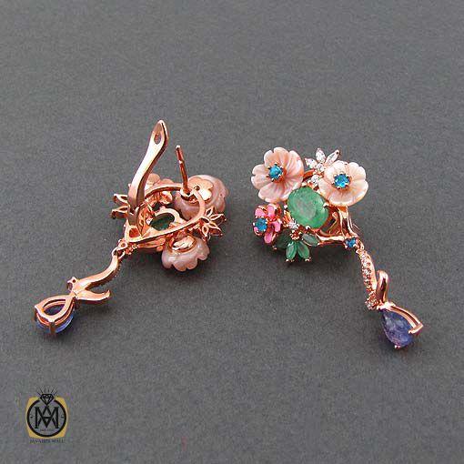 گوشواره چند جواهر زنانه و دخترانه شیک و جدید (2)