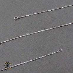 زنجیر نقره ایتالیایی اصل 50 سانتی طرح طنابی (1)