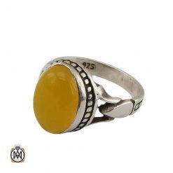 انگشتر عقیق شرف الشمس نقره مردانه اصل و مرغوب