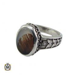 انگشتر سنگ عقیق شجر طبیعی مردانه