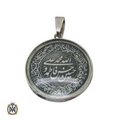 مدال نقره حکاکی وان یکاد و آیت الکرسی و پنج تن اسپرت
