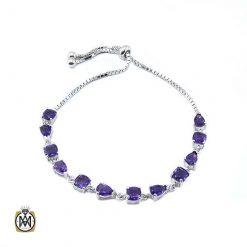 دستبند آمتیست زنانه معدنی