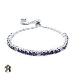 دستبند آمتیست زنانه خوش رنگ و مرغوب طرح مهرانا
