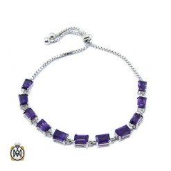 دستبند آمتیست زنانه مرغوب و معدنی طرح آناهید