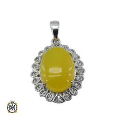 مدال نگین شرف الشمس عقیق زرد