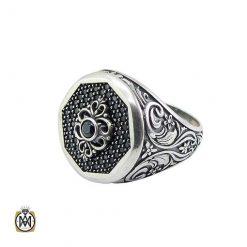 انگشتر نقره مردانه خاص بدون نگین